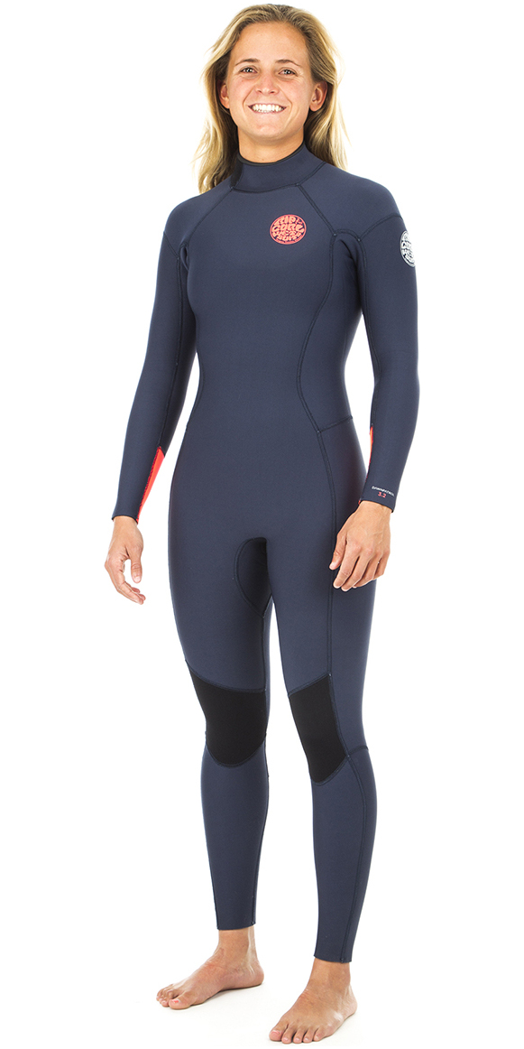 2019 Rip Curl Womens Dawn Patrol 3/2mm GBS Back Zip Wetsuit NAVY WSM8GW