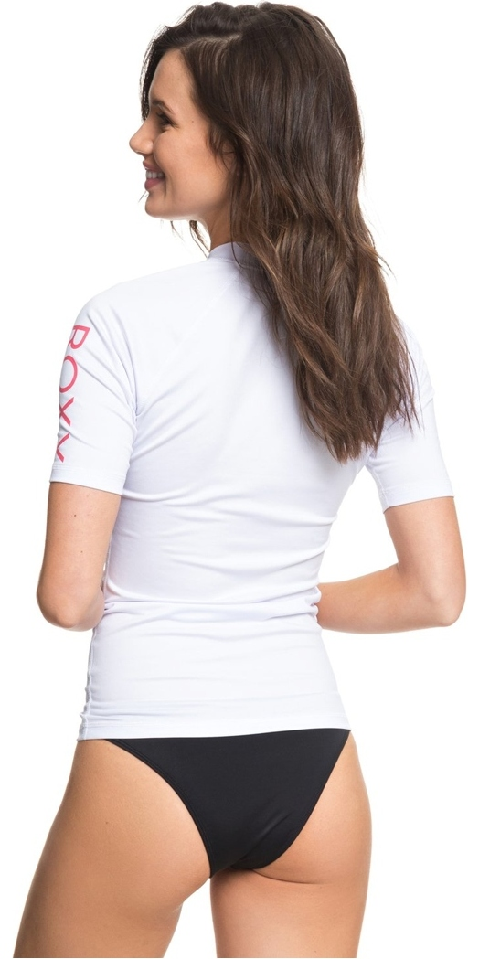 c083ea6941 2018 Roxy Womens Wholehearted Short Sleeve Rash Vest WHITE ERJWR03219 ...