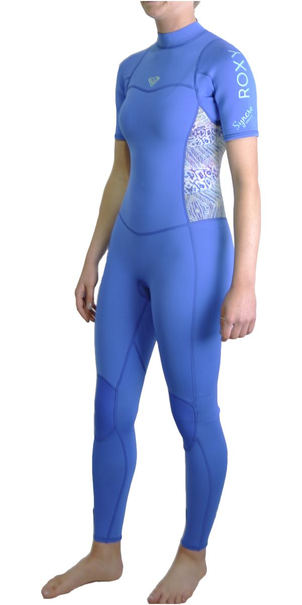 Roxy Womens Syncro Series 2mm Short Sleeve Back Zip Wetsuit SEA BLUE ERJW303001