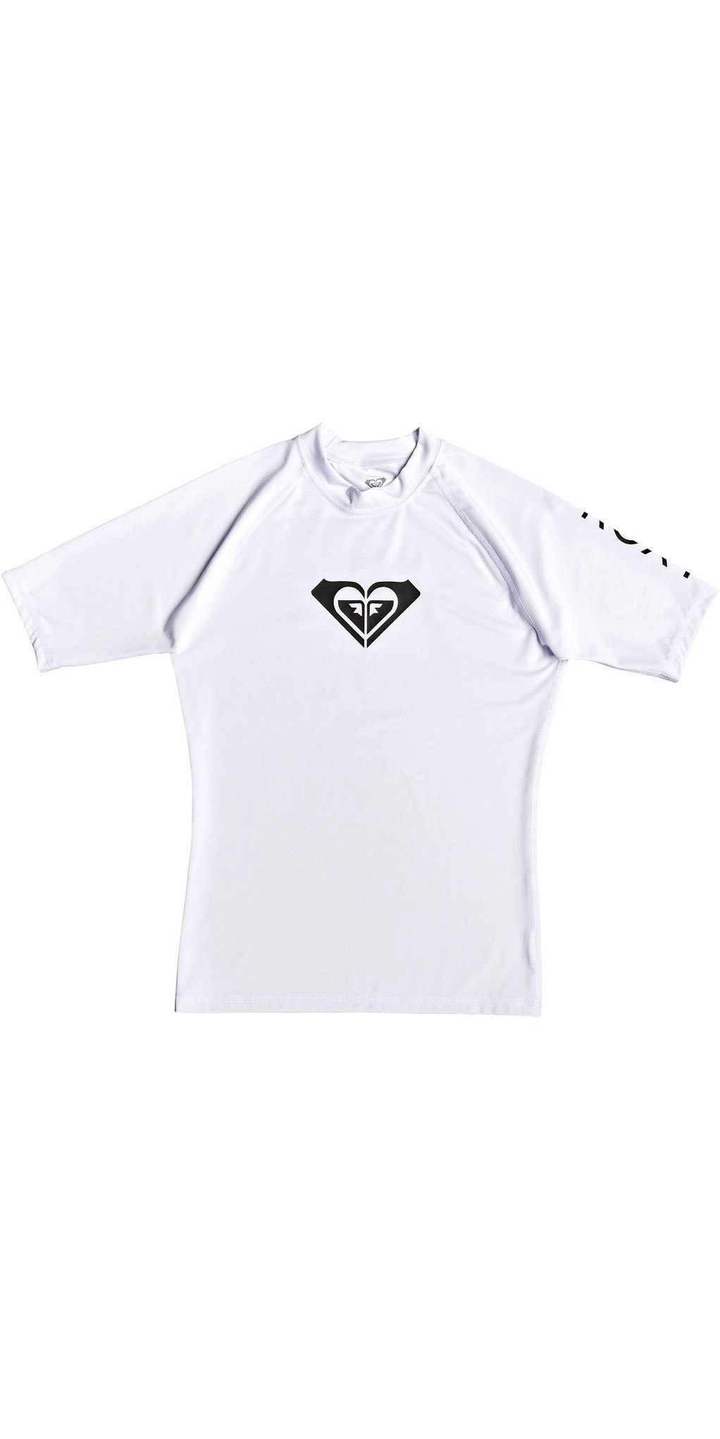 0c6ced07db Roxy Wholehearted Short Sleeve Rash Vest White ERJWR03219 ...
