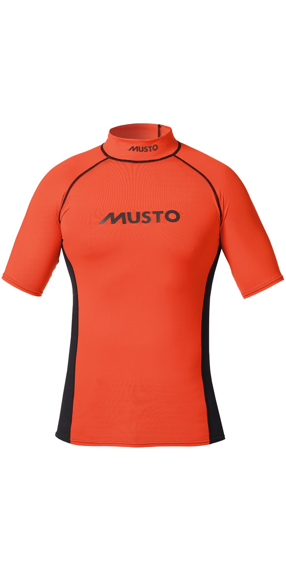 2016 Musto Short Sleeved UV Vest Fire Orange SO1072