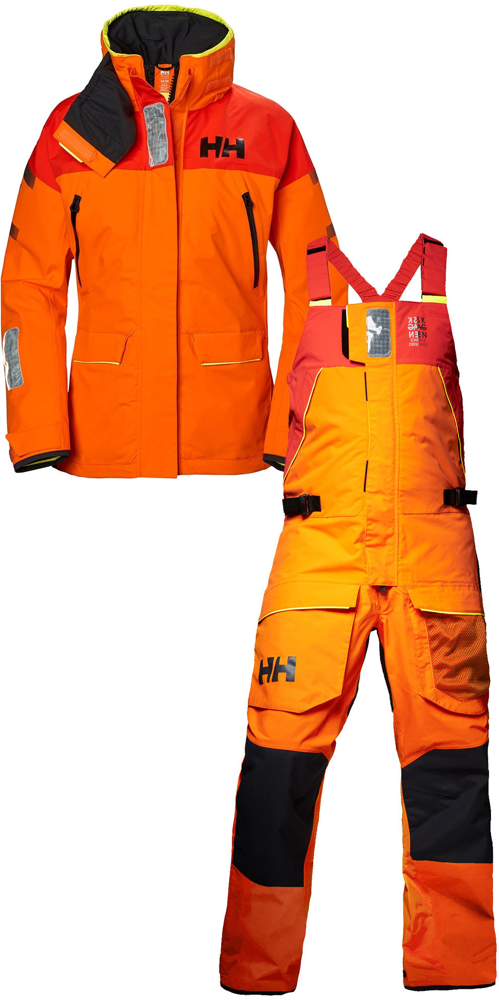 370e5f3255286 2019 Helly Hansen Womens Skagen Offshore Jacket 33920 & Trouser 33921 Combi  Set Blaze Orange | Wetsuit Outlet