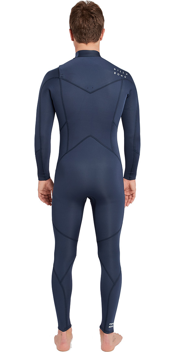 2019 Billabong Mens Furnace Absolute 3/2mm Chest Zip Wetsuit Slate L43M09