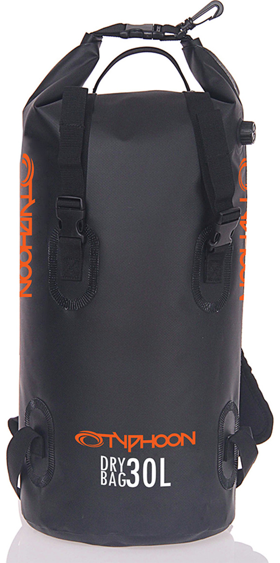 2018 Typhoon 30L Backpack Dry Bag Black 495016