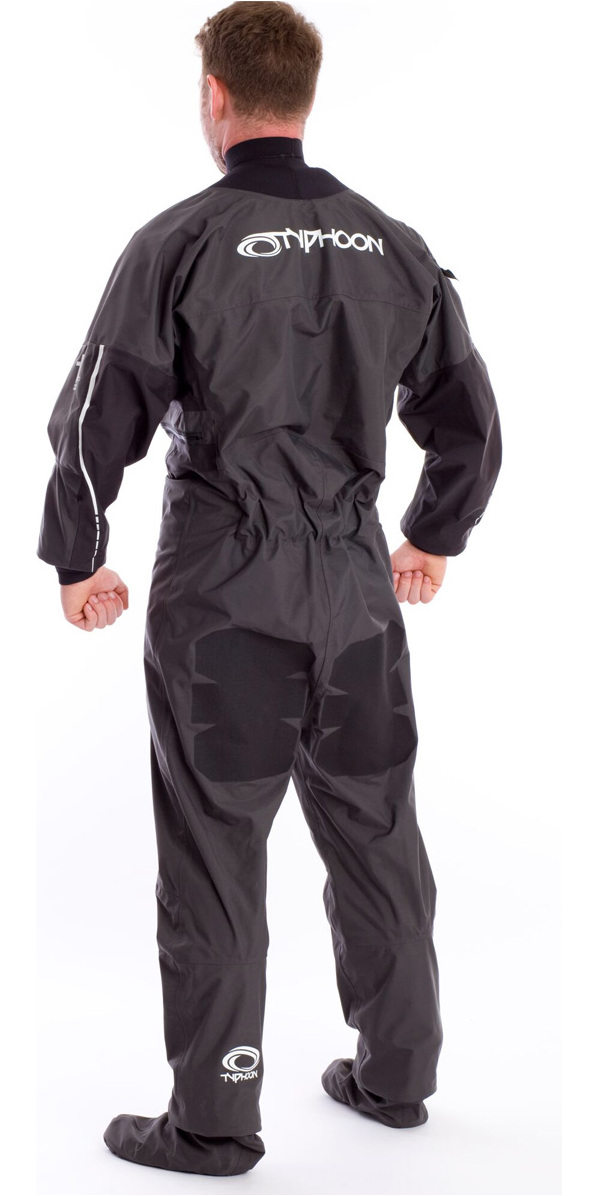 2019 Typhoon Ezeedon 3 Drysuit Front Zip + Fabric Socks & Underfleece Grey 100158