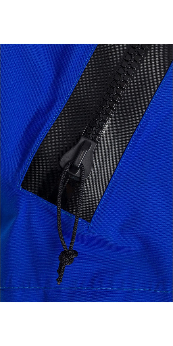 2019 Typhoon Hypercurve 4 Back Zip Drysuit & Underfleece Black / Blue 100169
