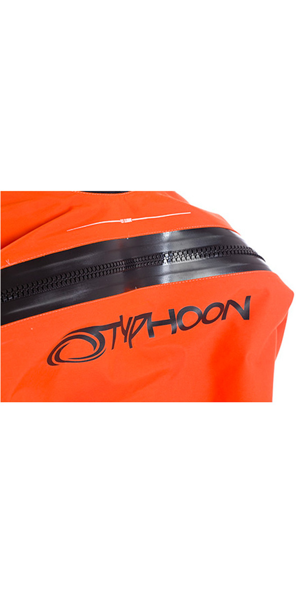 2018 Typhoon Junior Rookie Drysuit Neoprene Seals Black / Orange 100157