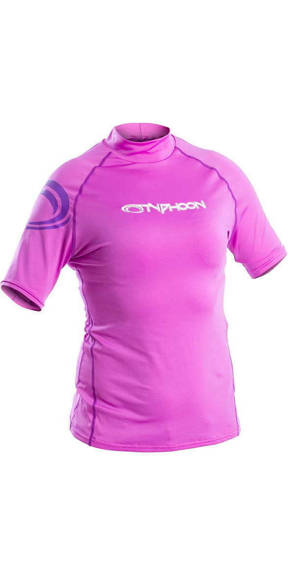 2018 Typhoon Junior Short Sleeve Rash Vest Violet 430074