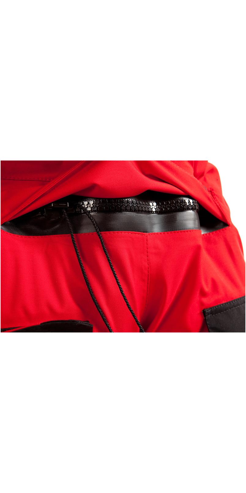 2019 Typhoon PS330 Xtreme Kayak / Ocean Sailing Drysuit + Con Zip Black / Red 100151
