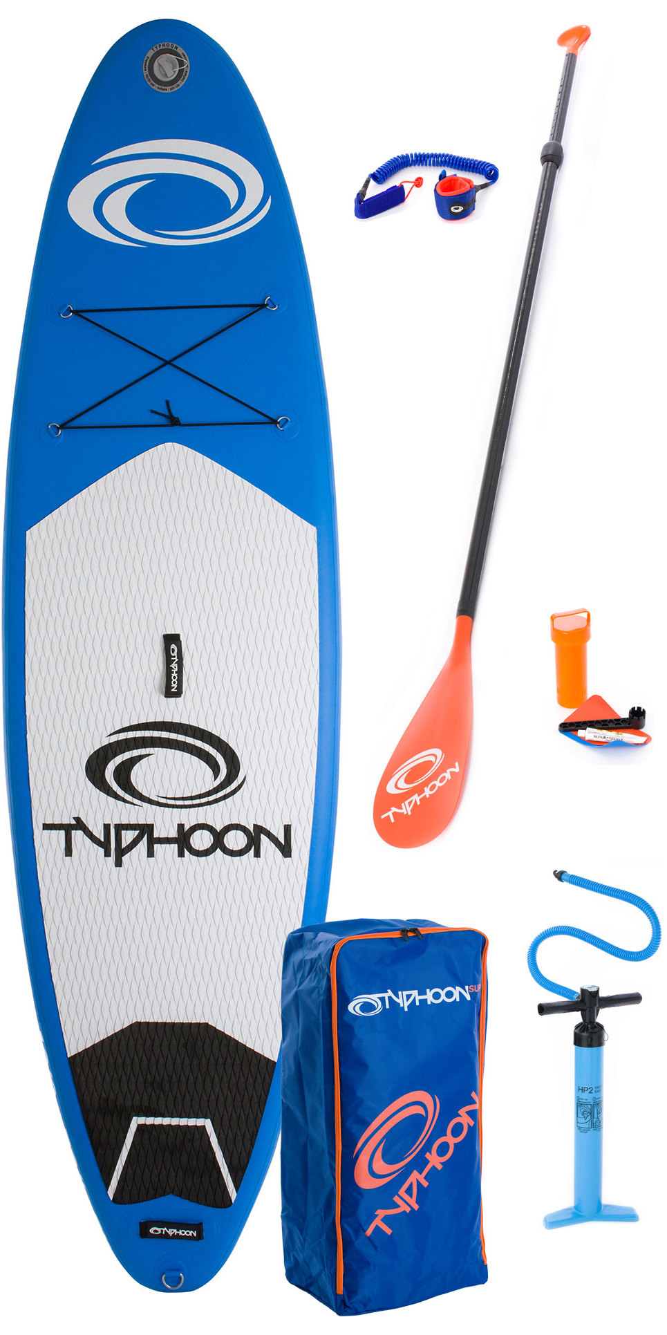 2019 Typhoon Inflatable SUP Package 10'2 Inc Board, Bag, Pump, Paddle & Leash 482113