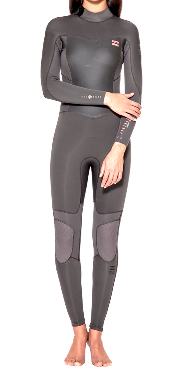 Billabong Ladies Synergy 5/4mm Back Zip Wetsuit OFF BLACK U45G02