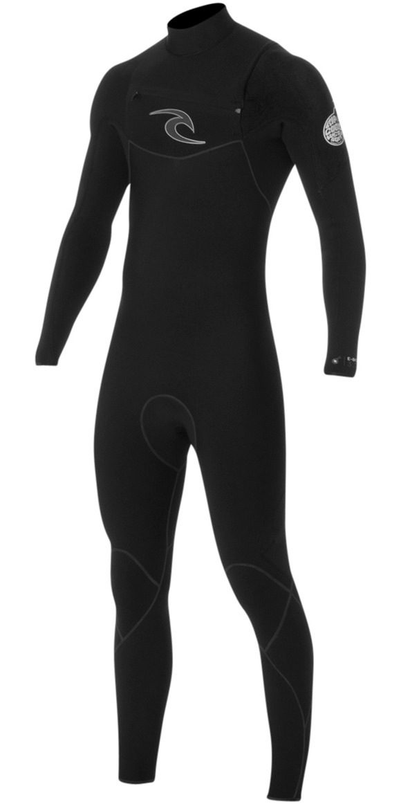 2017 Rip Curl E-Bomb 3/2mm GBS Chest Zip Wetsuit BLACK WSM5AE