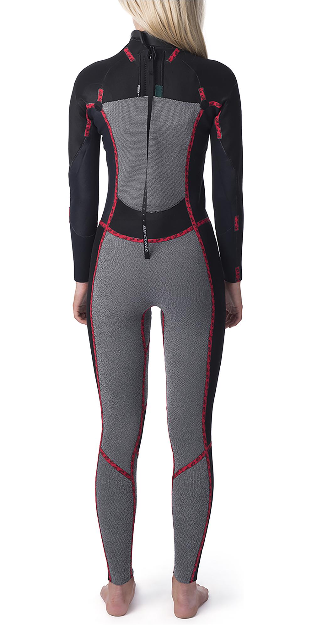 2019 Rip Curl Womens Dawn Patrol 5/3mm Back Zip Wetsuit Black / Black WSM9ES