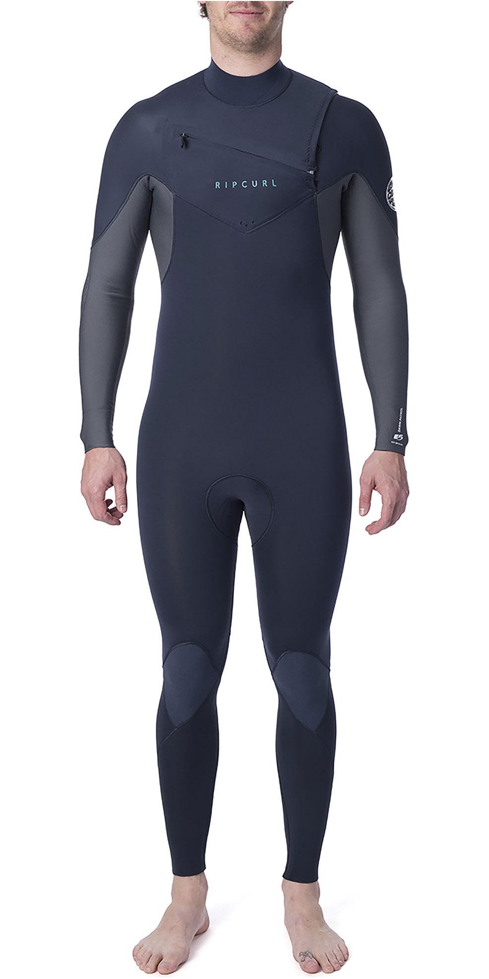 2020 Rip Curl Mens Dawn Patrol Warmth 4/3mm Chest Zip Wetsuit Slate WSM9CM