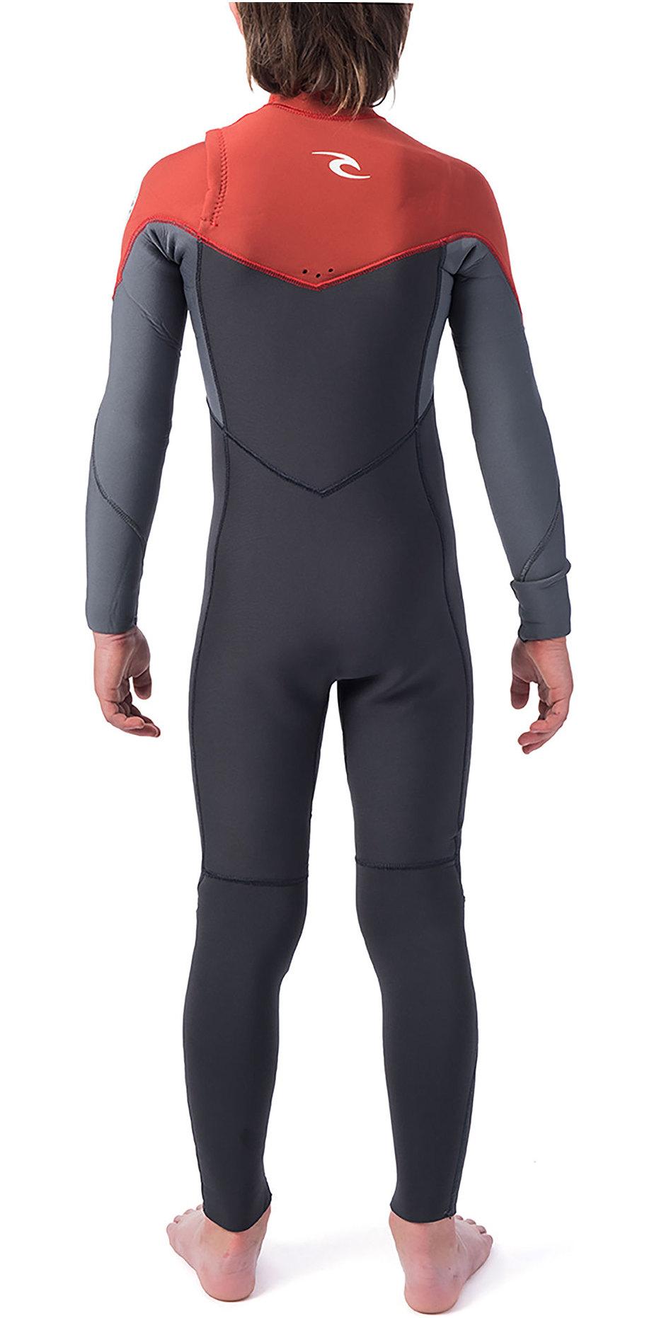 2019 Rip Curl Junior Dawn Patrol 5/3mm Chest Zip Wetsuit Burnt Orange WSM9PB