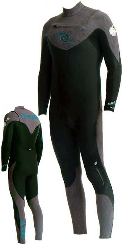 Rip Curl E Bomb PRO Chest Zip 4/3 in Black/Charcoal Marl WSMXOE