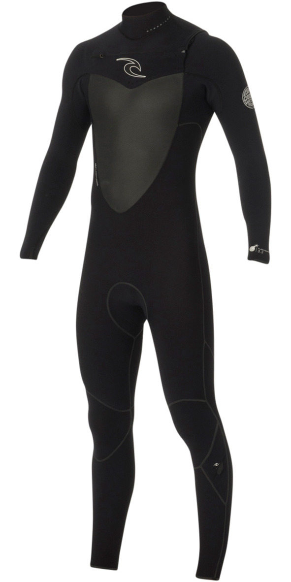 2016 Rip Curl Flashbomb 3/2mm Chest Zip Wetsuit in BLACK WSU5MF