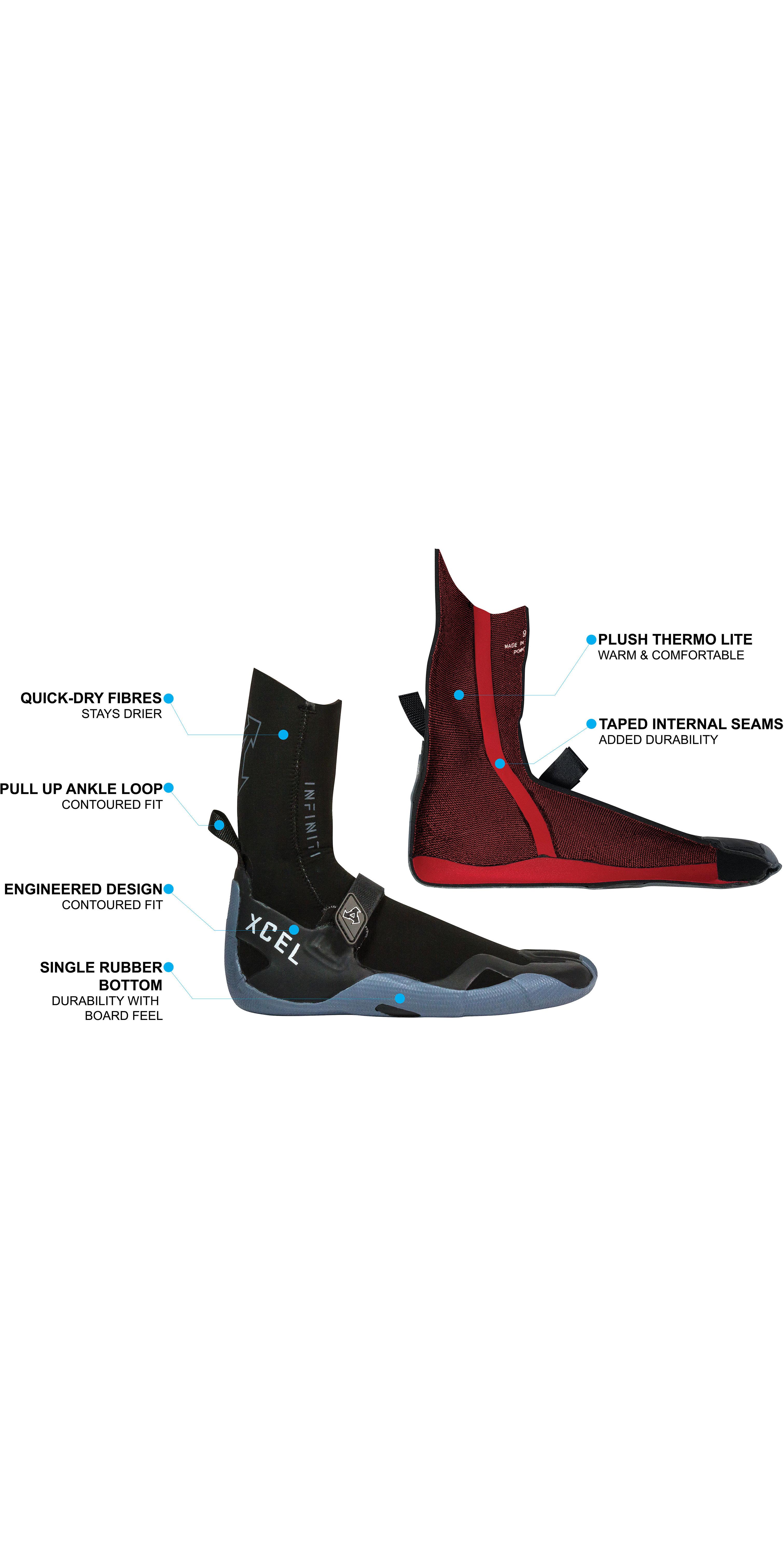 2020 Xcel Infiniti 5mm Split Toe Boots AT057017 - Black / Grey
