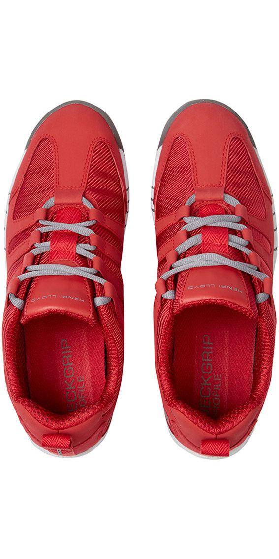 2018 Henri Lloyd Deck Grip Profile Deck Shoes in New Red Yf600001 ... 8df181a5b45