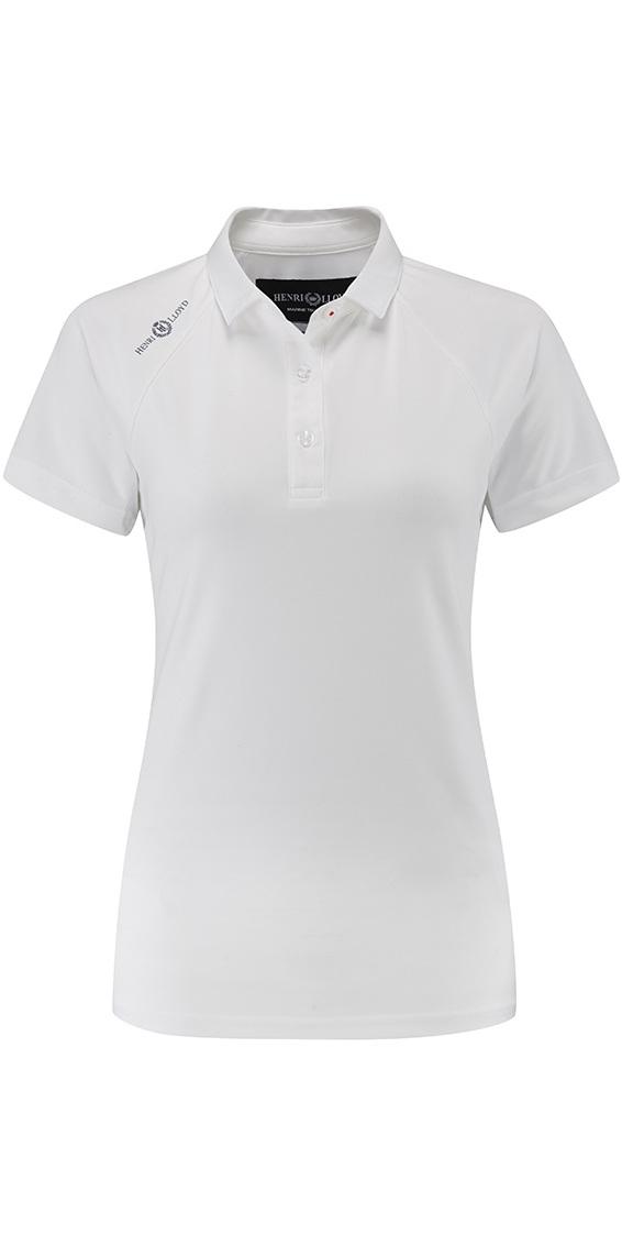 ed18aacc 2018 Henri Lloyd Womens Cool Dri Polo Shirt Bright White Yi000006 - T-shirts  Tops - Womens | Wetsuit Outlet