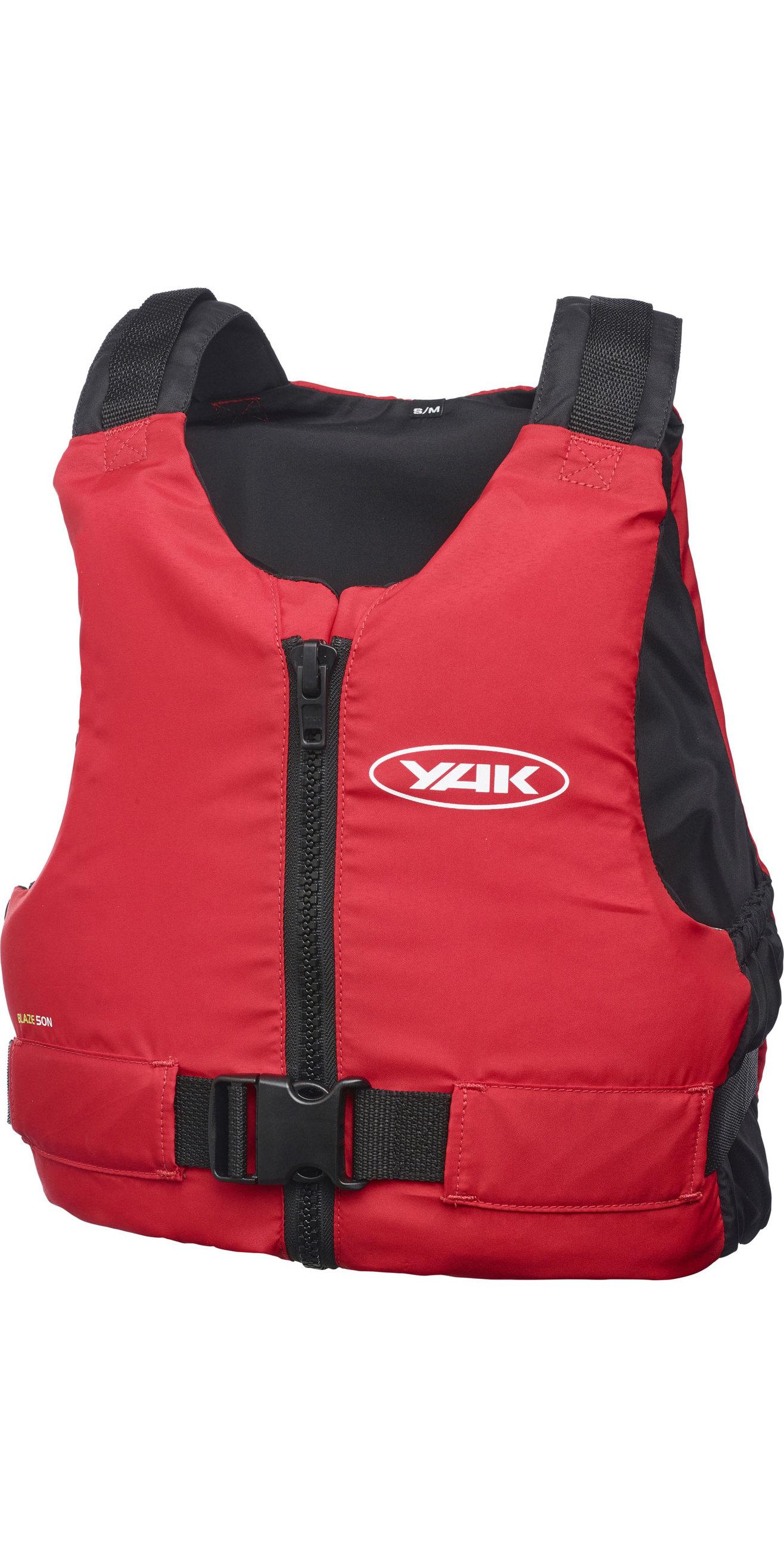 1cda0f281 2019 Yak Blaze Kayak 50N Buoyancy Aid Red 3712