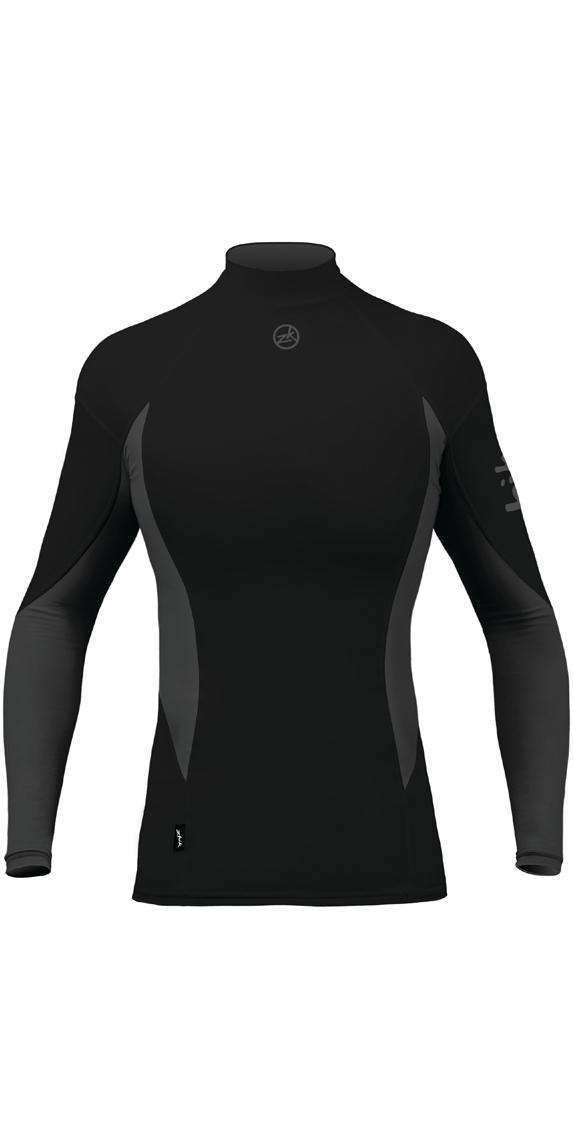 4495f64ff41b3 2019 Zhik Womens Long Sleeve Spandex Top Black Top61w - Sailing Tops ...