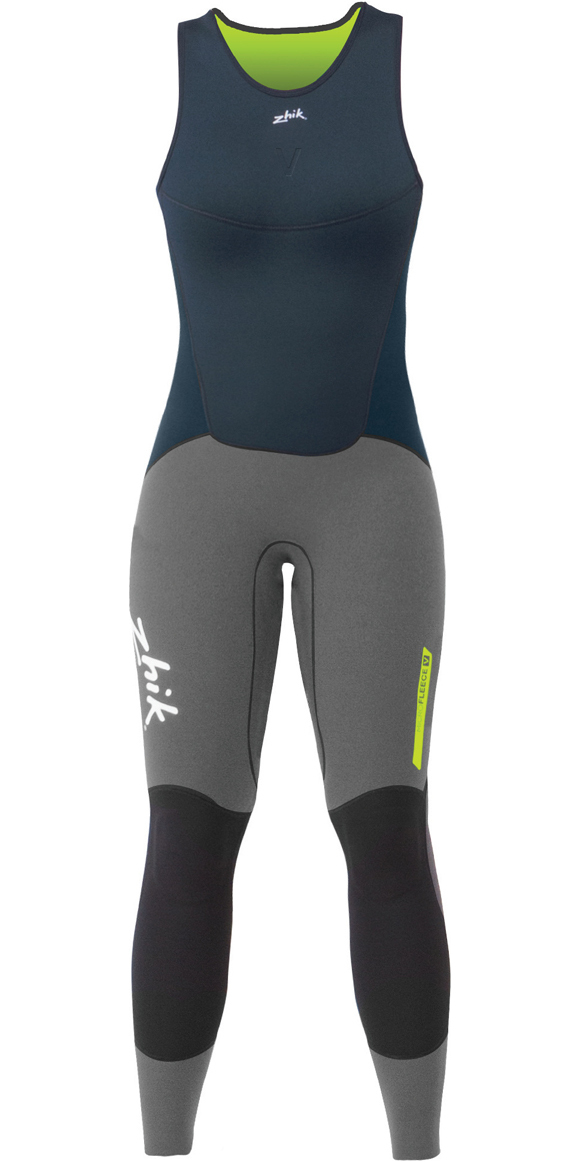 Zhik Mens Superwarm V Neoprene Top & Zhik Superwarm V Skiff Long John Wetsuit Combi-Set Navy