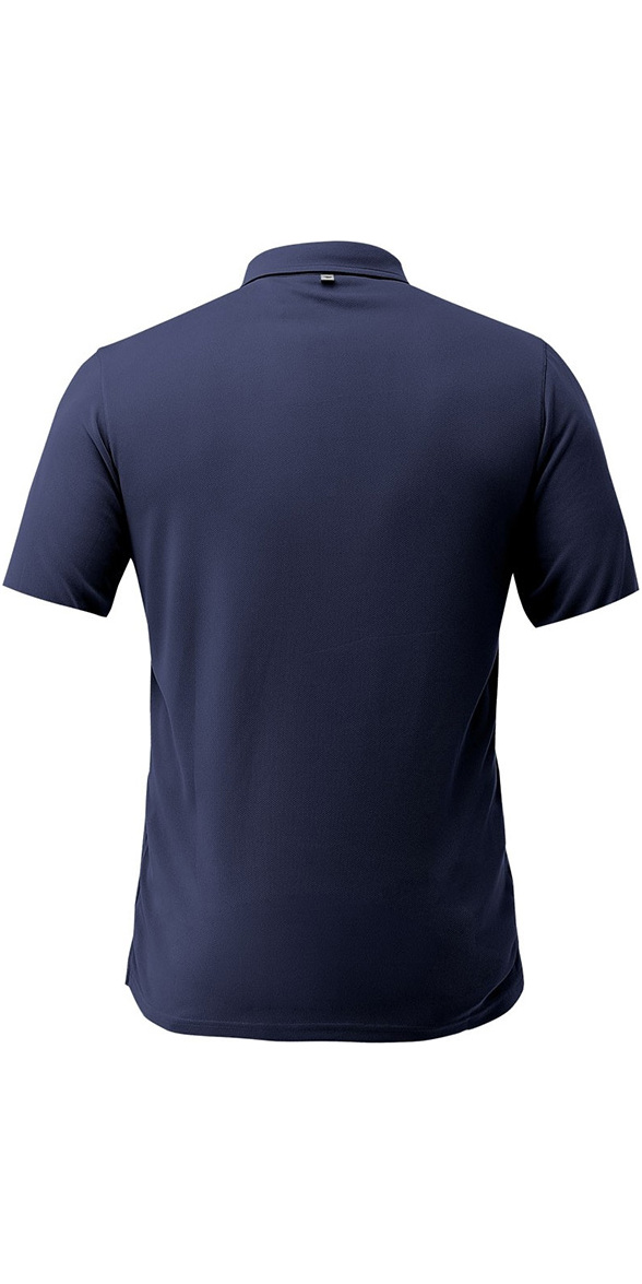 2019 Zhik Dry Short Sleeve Polo Shirt Navy TOP87