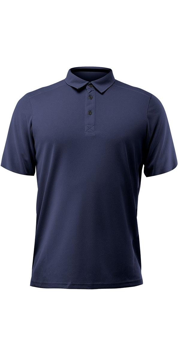 2020 Zhik Dry Short Sleeve Polo Shirt Navy TOP87