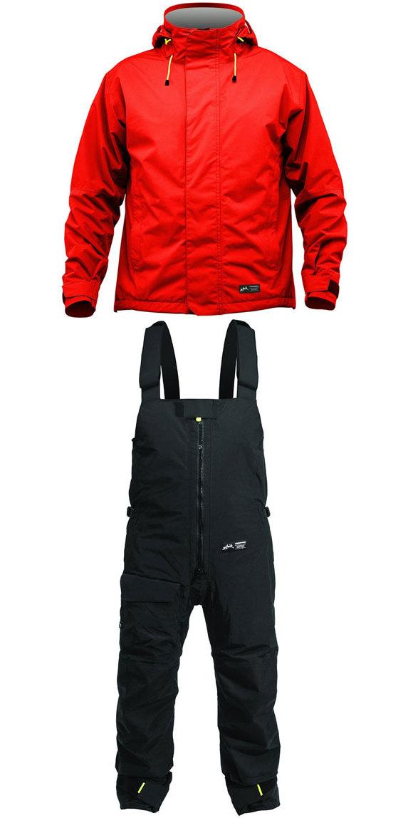 2019 Zhik Kiama Jacket J101 & Trouser TR101 Combi Set Red / Black