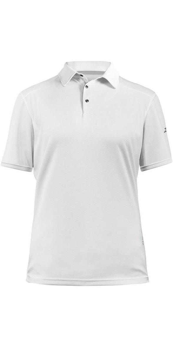 04a7b7dfc34 2019 Zhik Womens ZhikDry LT Short Sleeve Polo Top White 0870W