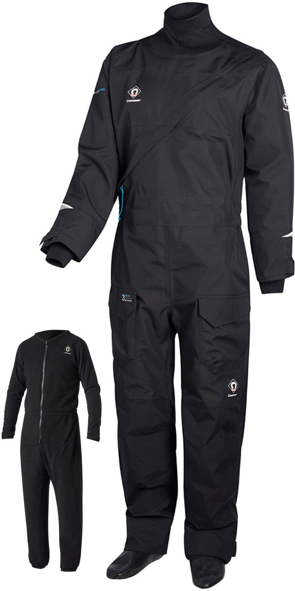 2018 Crewsaver Atacama Pro Drysuit INCLUDING UNDERSUIT BLACK 6556
