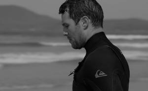 Eoghan Quinn wearing Quiksilver wetsuit