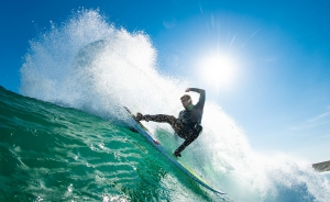 Surfer in wetsuit