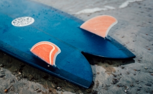 Surfboard on beach