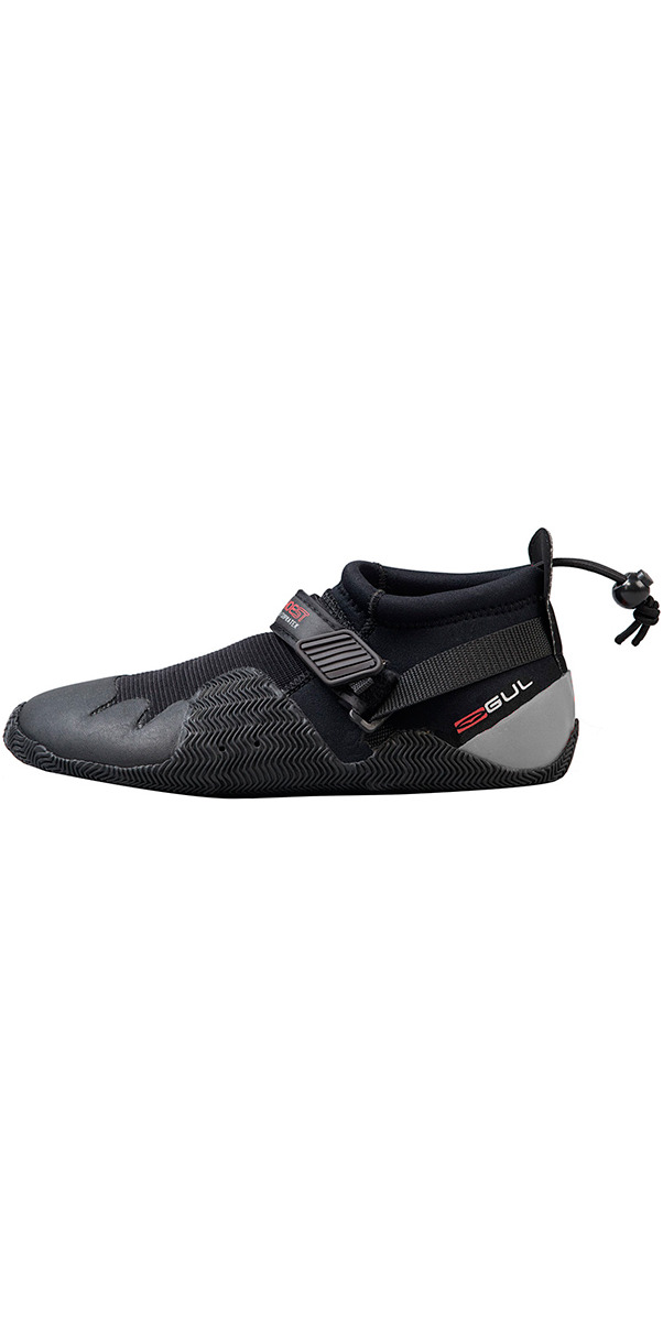2018 Gul Strapped Slipper 3mm Titanium Shoe BLACK / GREY BO1265-A8