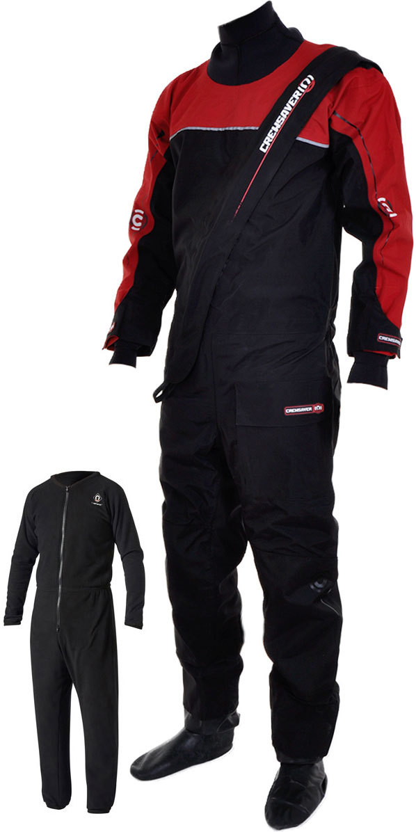 Crewsaver Cirrus Drysuit Including UnderFleece Dry Bag Black / RED 6515