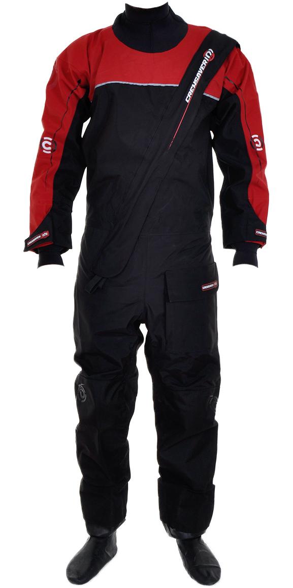 2017 Crewsaver Cirrus Drysuit Including UnderFleece Dry Bag Black / RED 6515