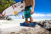 Surfer and sandals