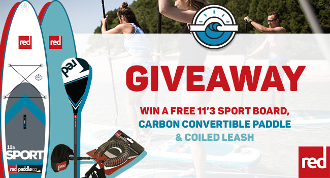 Win a Red Paddle Co 11'3 Sport SUP board, paddle and coil leash!