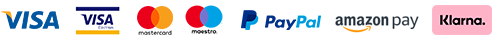 VISA, VISA ELectron, Mastercard, Maestro, PayPal, Amazon Pay