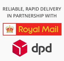Reliable, Rapid Delivery in partnership with Royal Mail & DPD