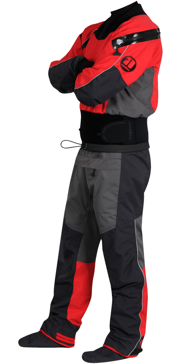 2020 Nookie Charger Canoe / Kayak Drysuit Charcoal Grey /  Red DR10