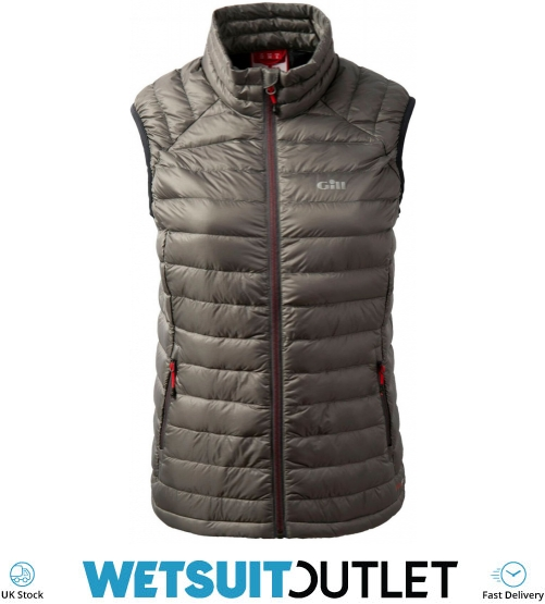 Details about Gill Womens Hydrophobe Down Gilet Pewter Internal chest pocket Yachting Power