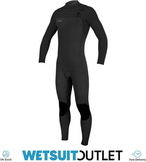 3221ec2a2b 2019 Oneill Hyperfreak 4 3mm Chest Zip Gbs Wetsuit Black 5001 - Mens 4mm -  4mm Wetsuits - by