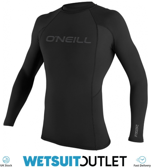 Quick Dry ONeill Youth Kids Junior Premium Skins Long Sleeve Rash Vest Top Teal Black Unisex