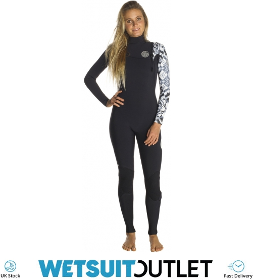 2e3f4f8ca5 2018 Rip Curl Womens G-Bomb 3 2mm GBS Zip Free Wetsuit Black   White WSM7KG