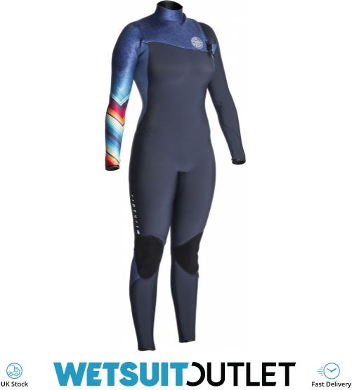 2018 rip curl womens g bomb 3 2mm gbs zip free wetsuit denim blue wsm7kg  ladies 3mm 92bee3409