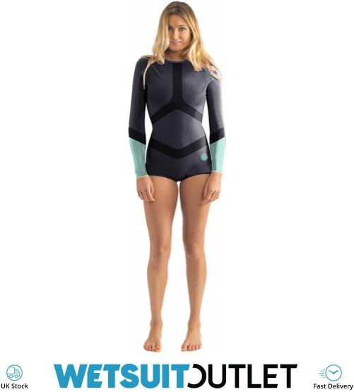 Rip Curl Womens Madi 1mm Long Sleeve Boyleg Shorty Wetsuit Blue Wsp6dw -  Womens - Shorty  2d88231e9