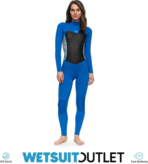 75f8eaabe7 2018 Roxy Womens Syncro Series 4 3mm GBS Back Zip Wetsuit BLUE ERJW103027